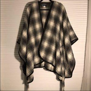 Apt. 9 Plaid Tie Waist Poncho/Cape